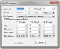 NinjaTrader ATM Selection Box