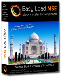 NinjaTrader NSE charts | Easy Load NSE (National Stock Exchange of India) equities installer