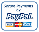 Secure Payments with PayPal, VISA and MasterCard