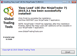 Automatically configures NinjaTrader for use with over 3,000 LSE stocks in just a few clicks.  It couldn't be any simpler!